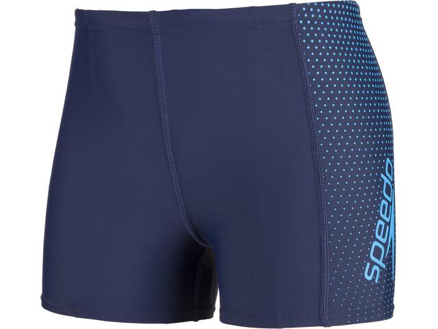 speedo Gala Logo Panel Aquashorts Boys Navy/Blue